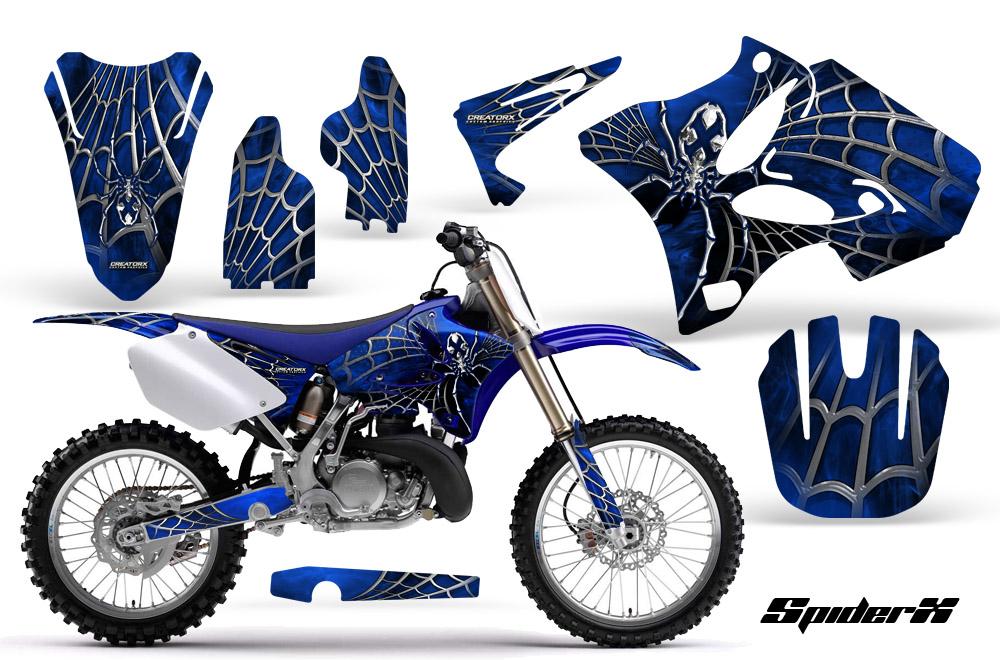 Yamaha YZ125 YZ250 2 Stroke 2002 2012 Graphics Kit Decals Spiderx SXBLBL
