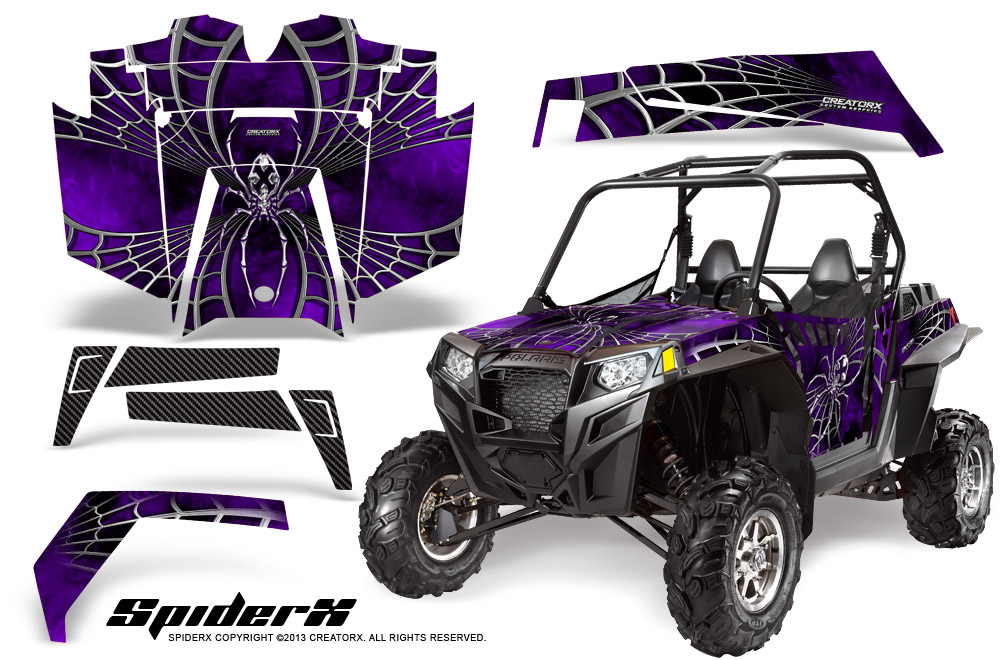Polaris RZR 170 Youth UTV Side x Side Graphics Kit CreatorX Decals SpiderX OD