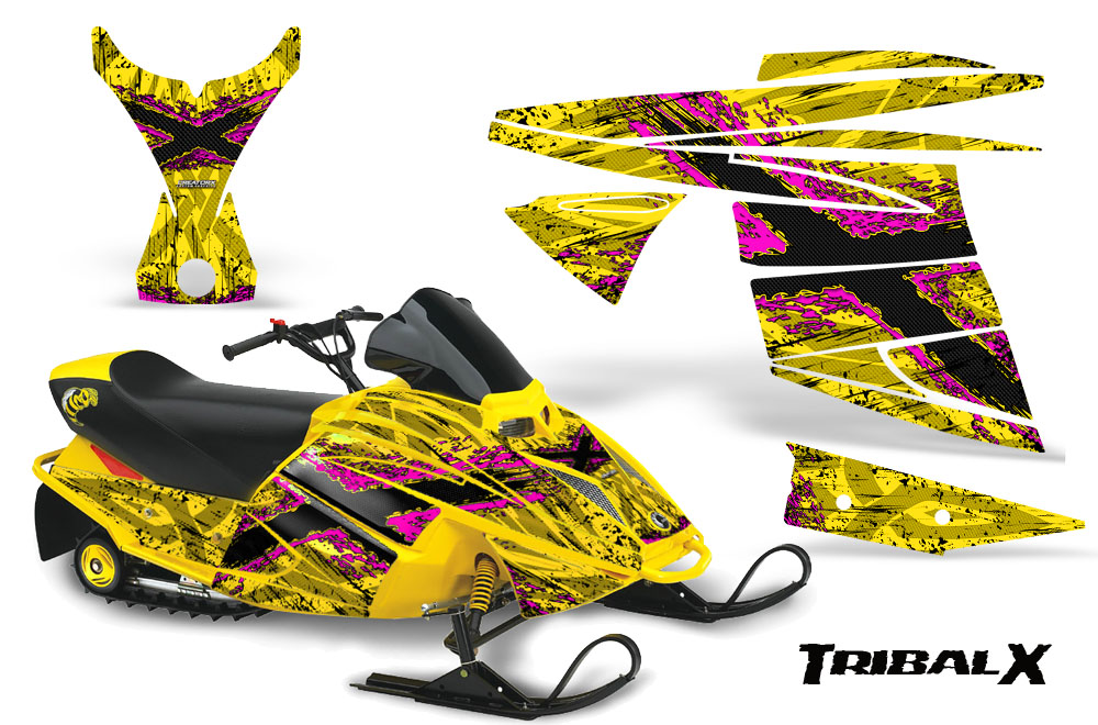 Ski Doo Mini Z Miniz Snowmobile Sled Graphics Kit Wrap