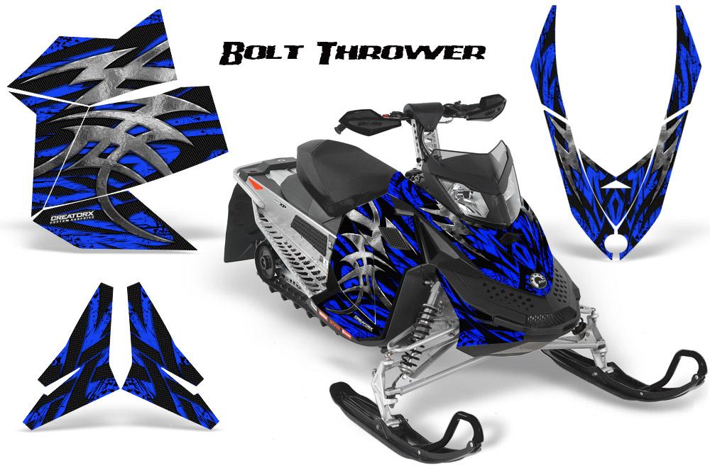Ski Doo Rev XP Snowmobile Sled Graphics Kit Wrap Decals Creatorx BTBL