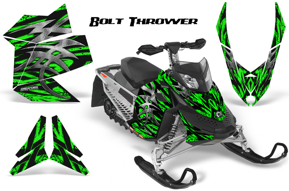 Ski Doo Rev XP Snowmobile Sled Graphics Kit Wrap Decals Creatorx BTG