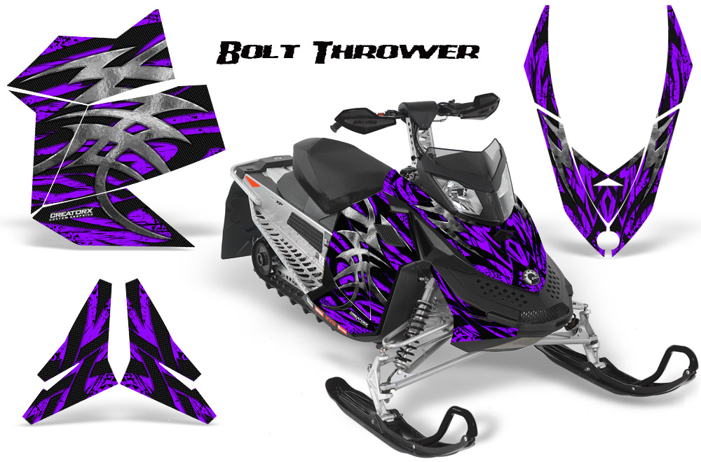 Ski Doo Rev XP Snowmobile Sled Graphics Kit Wrap Decals Creatorx BTPR