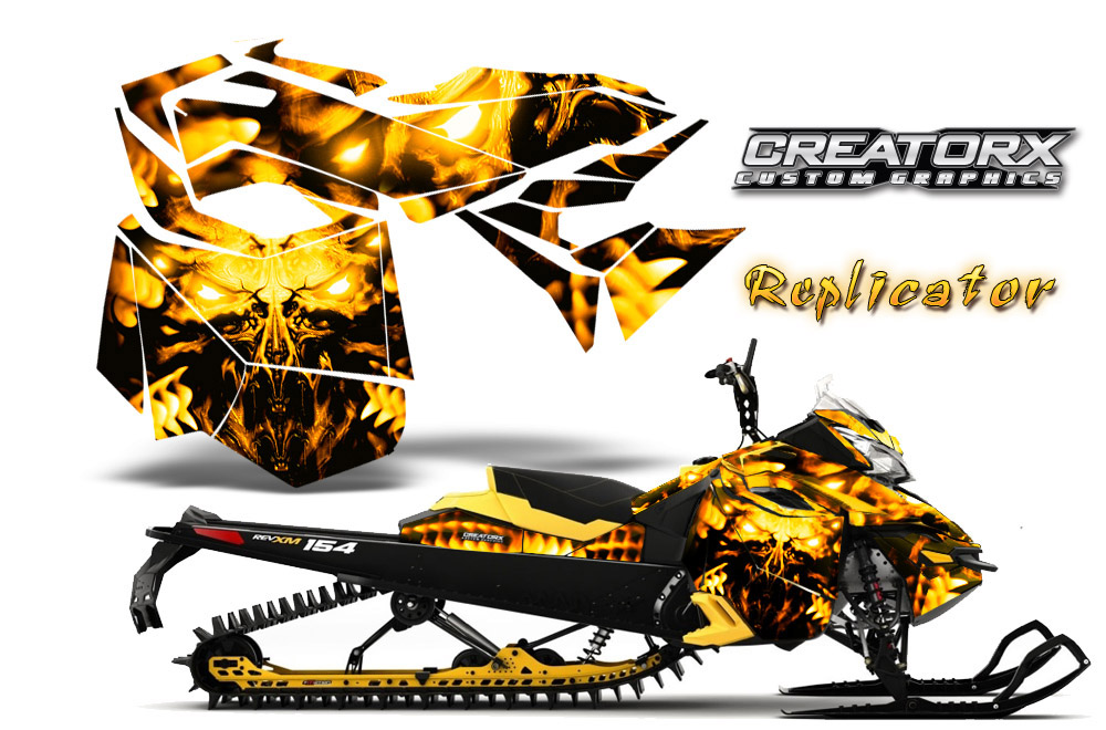 SKI-DOO REV XP SNOWMOBILE SLED GRAPHICS KIT WRAP DECALS CREATORX BTR