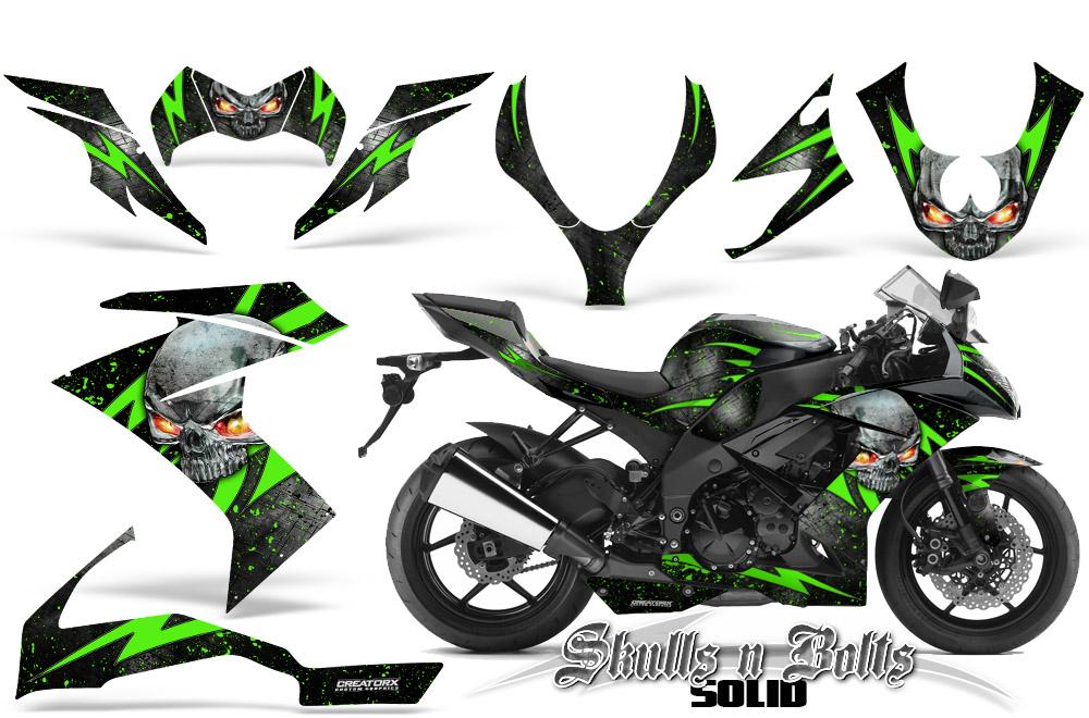 Ninja Decal Sticker Graphic Motorcycle Fairing Kawasaki Motorbike ZX10R ZZ14 ZX6