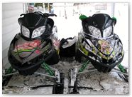 Arctic Cat M Series CreatorX Graphics Kit Little Sins Custom Green Silver 002