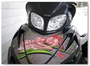 Arctic Cat M Series CreatorX Graphics Kit Little Sins Custom Green Silver 003
