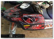 Arctic Cat M Series CreatorX Graphics Kit SpiderX Red 001