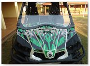 Can-Am Commander CREATORX Graphics Bolt Thrower Green 2