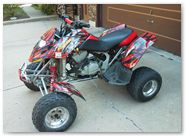 Can-Am DS650 Graphics by CreatorX Bolt Thrower Red Design 1
