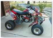 Can-Am DS650 Graphics by CreatorX Bolt Thrower Red Design 2