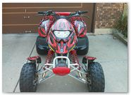 Can-Am DS650 Graphics by CreatorX Bolt Thrower Red Design 3