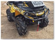 Can-Am Outlander CreatorX Graphics Bolt Thrower Yellow 02