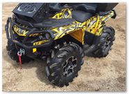 Can-Am Outlander CreatorX Graphics Bolt Thrower Yellow 03