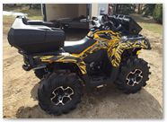 Can-Am Outlander CreatorX Graphics Bolt Thrower Yellow 04