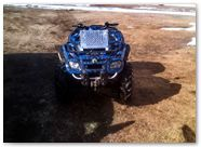 Can-Am Outlander CreatorX Graphics Kit Bolt Thrower Blue 002