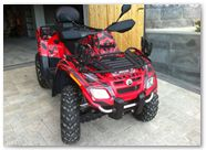 Can-Am Outlander CreatorX Graphics Kit Bolt Thrower Red 001