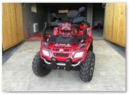 Can-Am Outlander CreatorX Graphics Kit Bolt Thrower Red 004