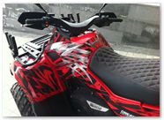Can-Am Outlander CreatorX Graphics Kit Bolt Thrower Red 007