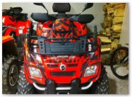 Can-Am Outlander CreatorX Graphics Kit Bolt Thrower Red 010