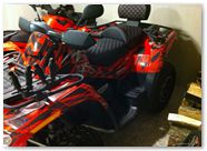 Can-Am Outlander CreatorX Graphics Kit Bolt Thrower Red 012