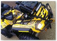 Can-Am Outlander CreatorX Graphics TribalX Black Yellow 02