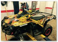 Can-Am Outlander CreatorX Graphics TribalX Red Yellow 01