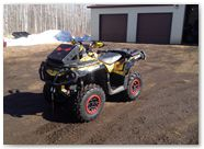 Can-Am Outlander CreatorX Graphics TribalX Red Yellow 02