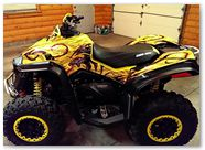 Can-Am Renegade CreatorX Graphics Dragon Fury Red Yellow 01