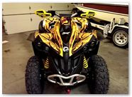 Can-Am Renegade CreatorX Graphics Dragon Fury Red Yellow 03
