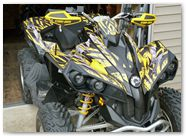 Can-Am Renegade CreatorX Graphics Kit Bolt Thrower Yellow 002