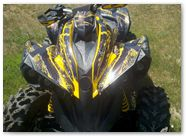 Can-Am Renegade CreatorX Graphics Kit TribalX Yellow Black 001