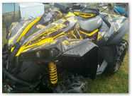 Can-Am Renegade CreatorX Graphics Kit TribalX Yellow Black 002