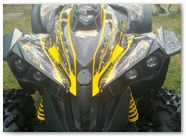 Can-Am Renegade CreatorX Graphics Kit TribalX Yellow Black 003