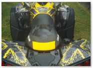 Can-Am Renegade CreatorX Graphics Kit TribalX Yellow Black 004