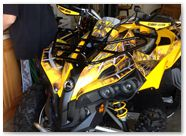 Can-Am Renegade CREATORX Graphics SpiderX Yellow A001
