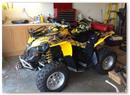 Can-Am Renegade CREATORX Graphics SpiderX Yellow A003