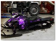 Can-Am Ski-Doo Rev XM CreatorX Graphics Skull Chief Purple