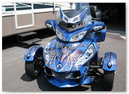 Can-Am Spyder CreatorX Graphics Kit SpiderX Blue 01
