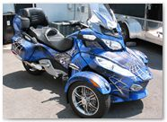 Can-Am Spyder CreatorX Graphics Kit SpiderX Blue 02