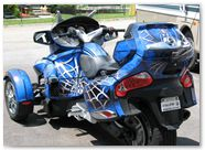 Can-Am Spyder CreatorX Graphics Kit SpiderX Blue 03