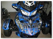 Can-Am Spyder CREATORX Graphics Kit SpiderX Blue 04