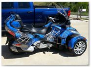 Can-Am Spyder CREATORX Graphics Kit SpiderX Blue B 01