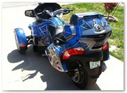 Can-Am Spyder CREATORX Graphics Kit SpiderX Blue B 02