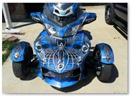 Can-Am Spyder CREATORX Graphics Kit SpiderX Blue B 03