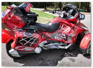 Can-Am Spyder CREATORX Graphics Kit SpiderX Red B 02