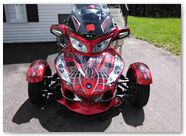 Can-Am Spyder CREATORX Graphics Kit SpiderX Red B 03