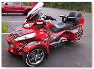 Can-Am Spyder CREATORX Graphics Kit SpiderX Red B 04