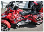 Can-Am Spyder CREATORX Graphics Kit SpiderX Red B 05
