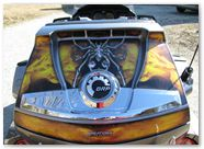 Can-Am Spyder CreatorX Graphics Kit SpiderX Yellow on Silver 02