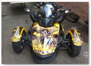 Can-Am Spyder RS CreatorX Graphics Kit SpiderX Yellow 02